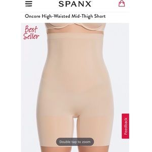 Spanx on core high waist short Small